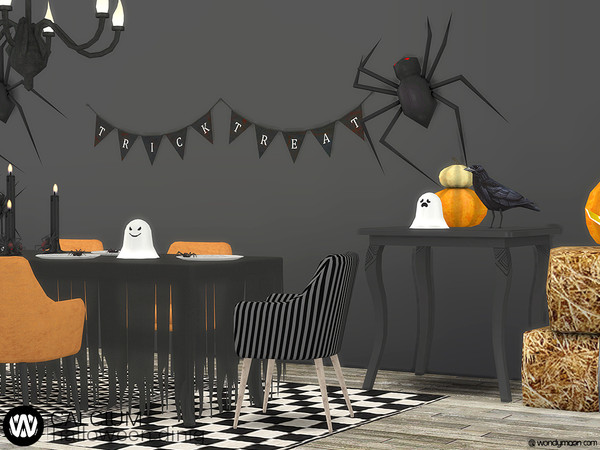 Sims 4 Calcium Halloween Dining by wondymoon at TSR