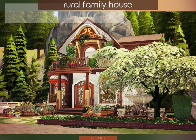 Sims 4 Rural Family House by Praline at Cross Design