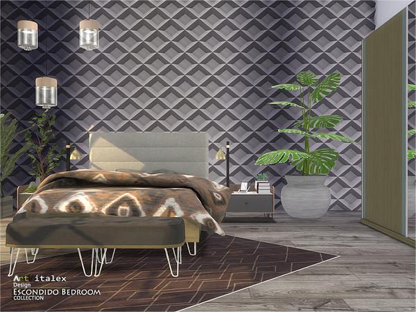Escondido Bedroom by ArtVitalex at TSR image 746 Sims 4 Updates