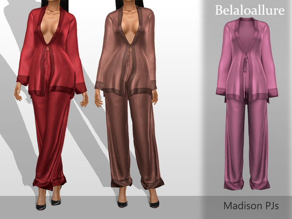 Belaloallure Madison Pjs by belal1997 at TSR image 7514 Sims 4 Updates