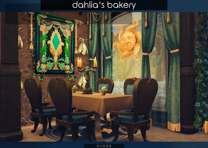 Sims 4 Dahlias Bakery at Cross Design