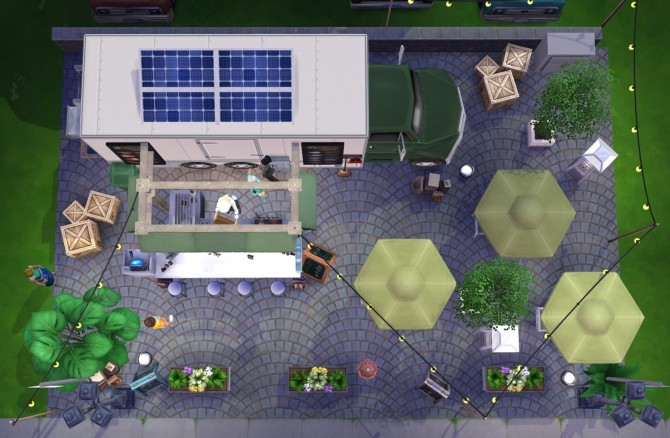 Sims 4 Food truck at Fab Flubs