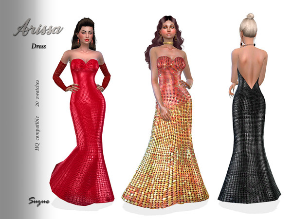 Arissa Dress by Suzue at TSR image 770 Sims 4 Updates