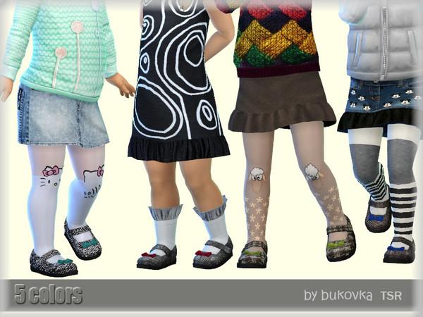 Sims 4 Tweed Shoes by bukovka at TSR