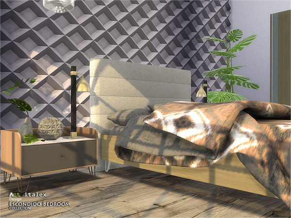 Escondido Bedroom by ArtVitalex at TSR image 776 Sims 4 Updates