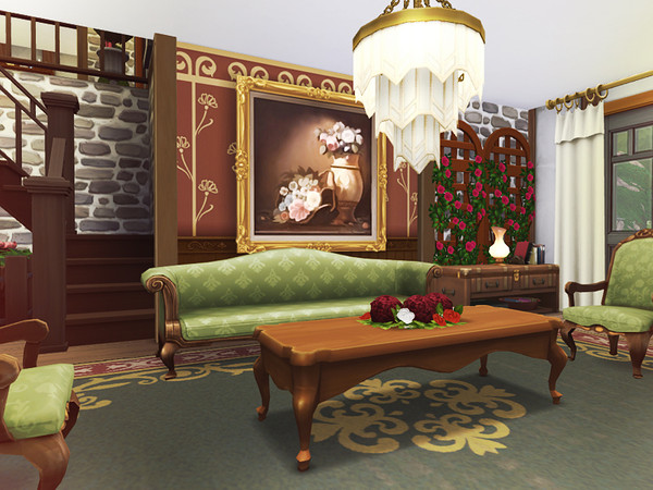 Sims 4 Brynja cozy house by Rirann at TSR