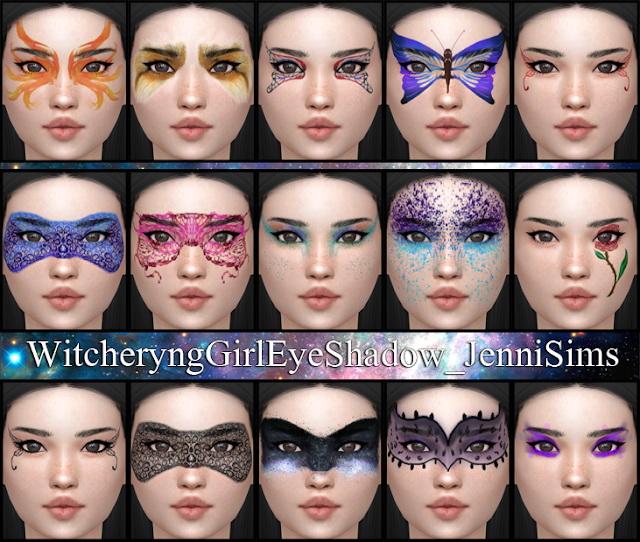 Eyeshadow Witcheryng Girl (15 Swatches ) at Jenni Sims image 784 Sims 4 Updates