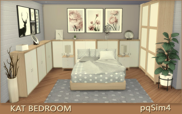 Sims 4 Kat Bedroom at pqSims4