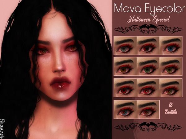 Sims 4 Mava Eyecolors by Sharareh at TSR