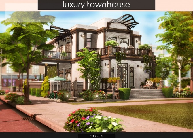 Luxury Townhouse at Cross Design image 795 670x479 Sims 4 Updates