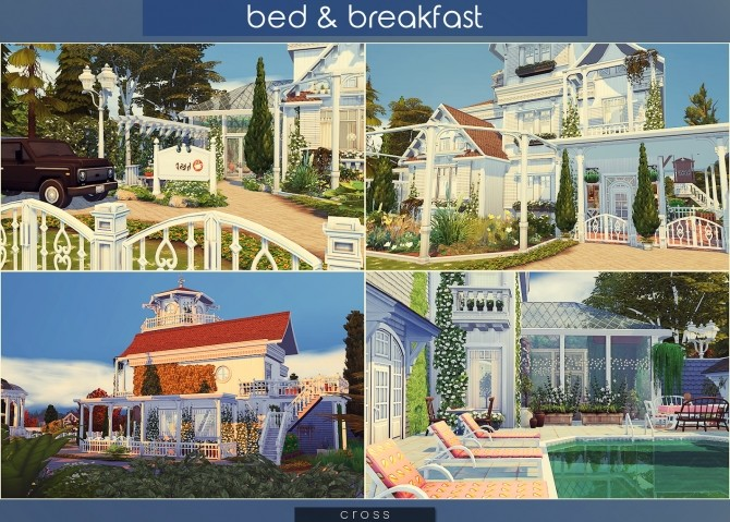 Bed & Breakfast house at Cross Architecture image 8013 670x479 Sims 4 Updates