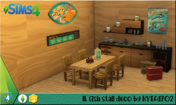 Sulani fish stall deco set at Simmetje Sims image 8018 670x402 Sims 4 Updates