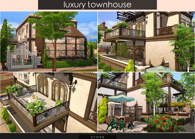 Luxury Townhouse at Cross Design image 804 670x479 Sims 4 Updates