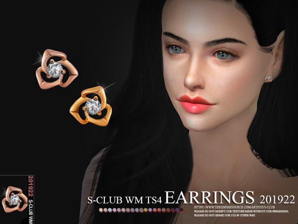 Sims 4 EARRINGS 201922 by S Club WM at TSR