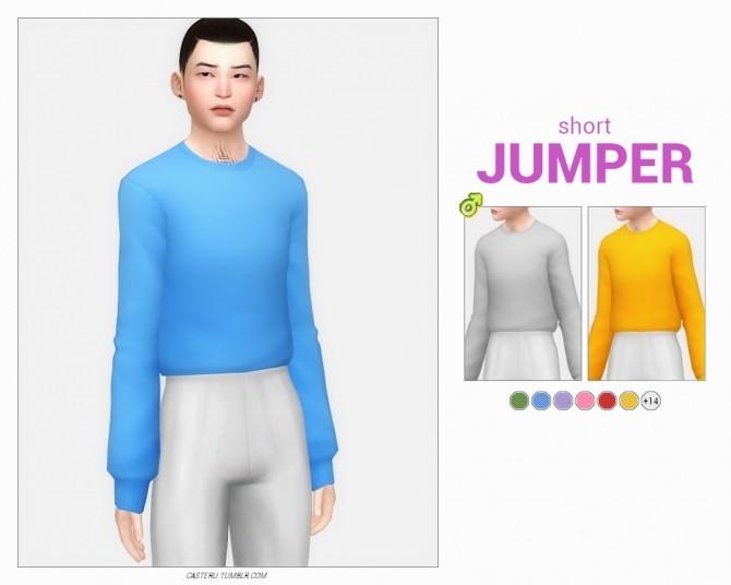 Sims 4 Short  & basic jumper at Casteru