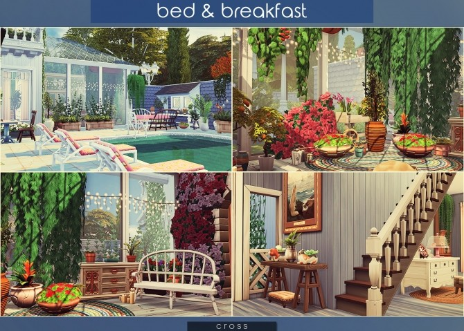 Bed & Breakfast house at Cross Architecture image 8118 670x479 Sims 4 Updates