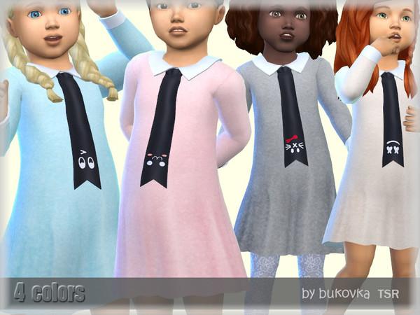Sims 4 Dress Necktie by bukovka at TSR