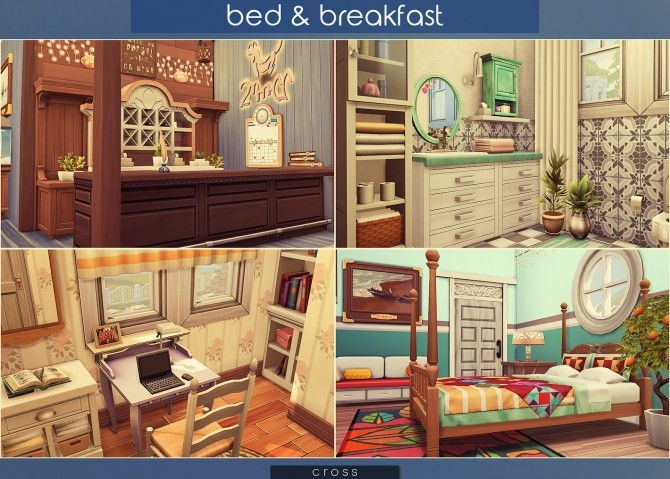 Bed & Breakfast house at Cross Architecture image 8215 670x479 Sims 4 Updates