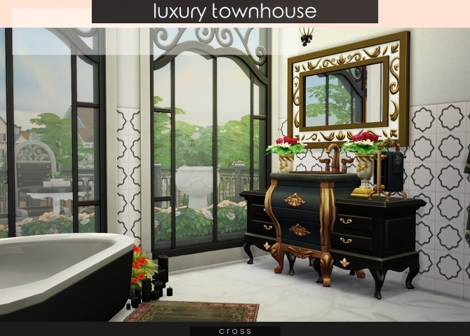 Luxury Townhouse at Cross Design image 825 670x479 Sims 4 Updates