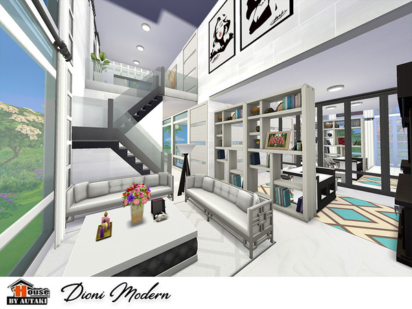 Dioni Modern house by autaki at TSR image 829 Sims 4 Updates