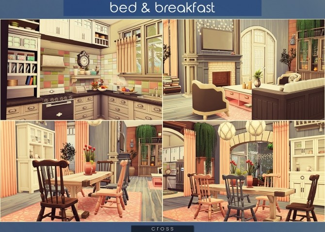 Bed & Breakfast house at Cross Architecture image 8313 670x479 Sims 4 Updates