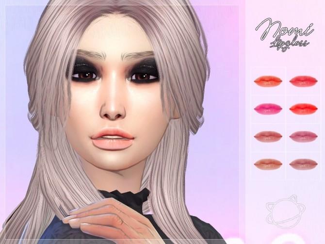 Sims 4 Nomi Lipgloss at Yuumia Universe CC