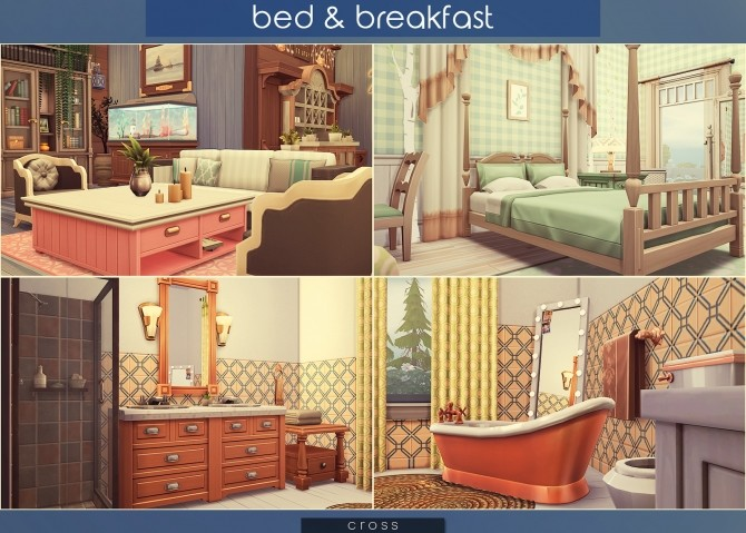 Bed & Breakfast house at Cross Architecture image 8413 670x479 Sims 4 Updates