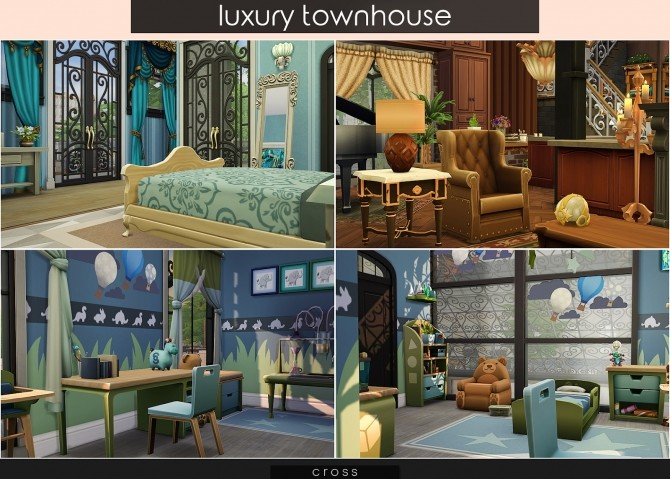 Luxury Townhouse at Cross Design image 844 670x479 Sims 4 Updates