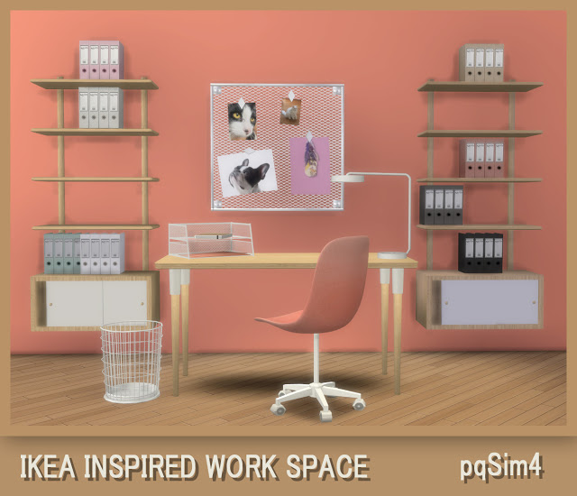 Ikea Inspired Work Space at pqSims4 image 867 Sims 4 Updates