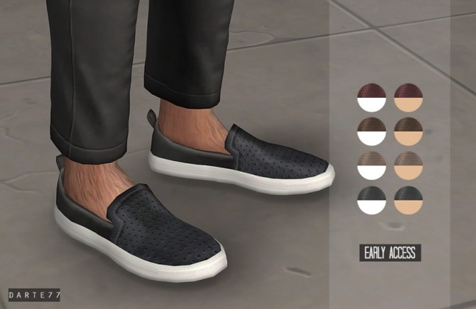 Leather Slip Ons (P) at Darte77 image 8712 670x436 Sims 4 Updates