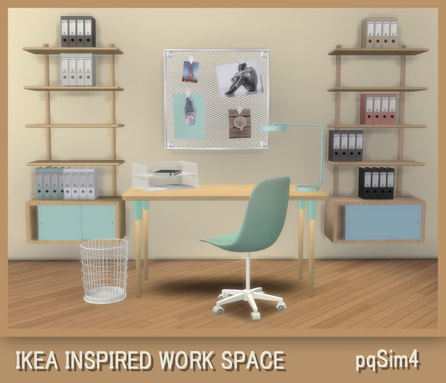 Ikea Inspired Work Space at pqSims4 image 877 Sims 4 Updates