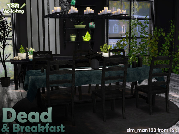 Sims 4 Dead and Breakfast dining room by sim man123 at TSR