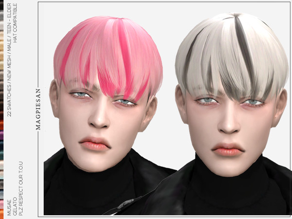 Sims 4 Gelato Hair by magpiesan at TSR