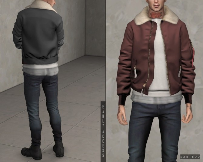 Bomber Jacket with Fur Collar (P) at Darte77 image 9012 670x536 Sims 4 Updates