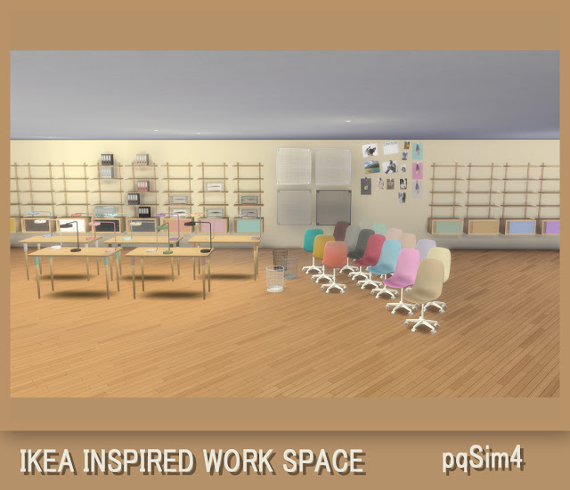 Ikea Inspired Work Space at pqSims4 image 906 Sims 4 Updates