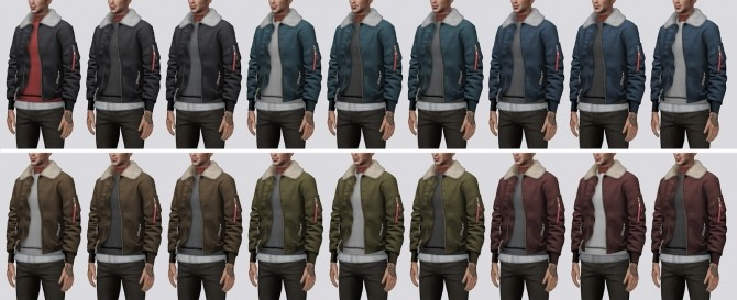Bomber Jacket with Fur Collar (P) at Darte77 image 9116 670x273 Sims 4 Updates