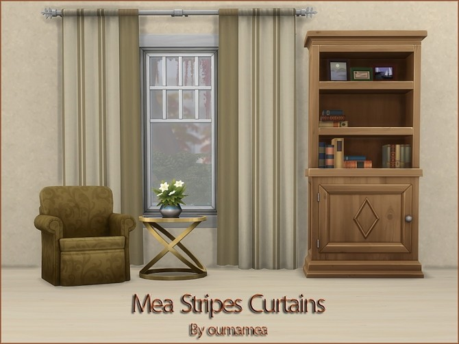 Mea Stripes Curtain by oumamea at Mod The Sims image 915 670x503 Sims 4 Updates