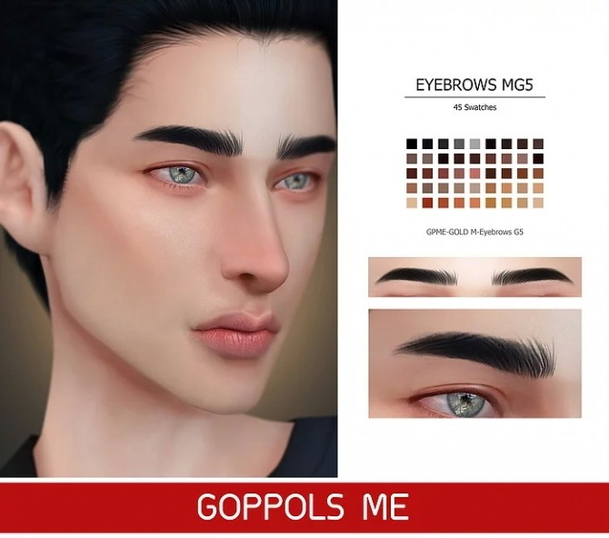 GPME GOLD M Eyebrows G5 at GOPPOLS Me image 921 670x592 Sims 4 Updates