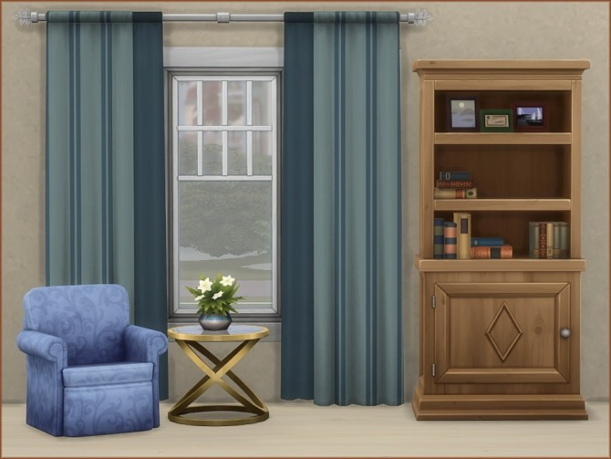 Mea Stripes Curtain by oumamea at Mod The Sims image 922 670x503 Sims 4 Updates