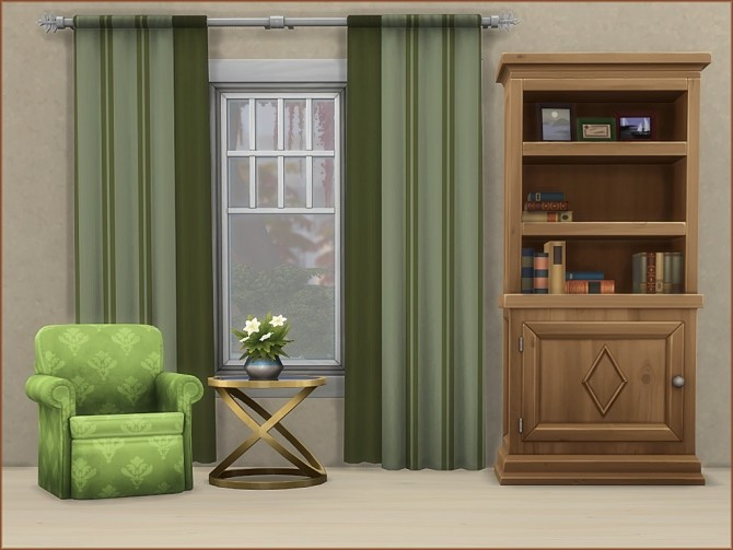 Mea Stripes Curtain by oumamea at Mod The Sims image 932 670x503 Sims 4 Updates