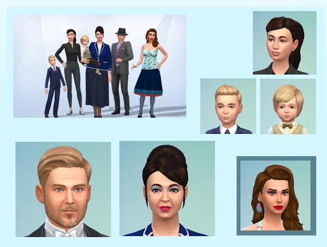 Sims 4 The Symmington family at KyriaT's Sims 4 World