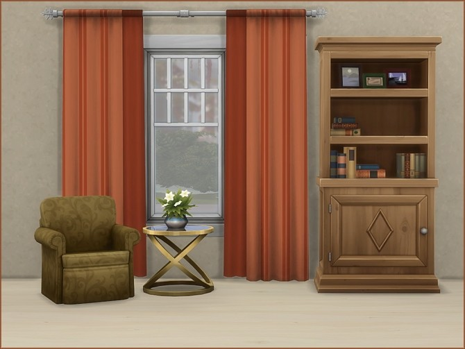 Mea Stripes Curtain by oumamea at Mod The Sims image 943 670x503 Sims 4 Updates