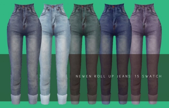 Hoodie With Cardigan, Shirt With Vest, Roll Up Jeans & Denim Skirt at NEWEN image 944 670x430 Sims 4 Updates