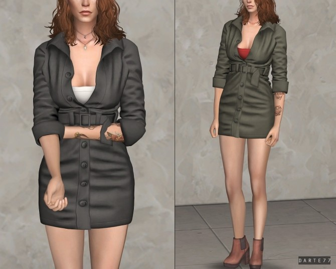 Cargo Dress at Darte77 image 9612 670x536 Sims 4 Updates