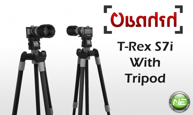 Sims 4 Candid T Rex S7i Camera & Tripod 15 Colors by New Era at Mod The Sims
