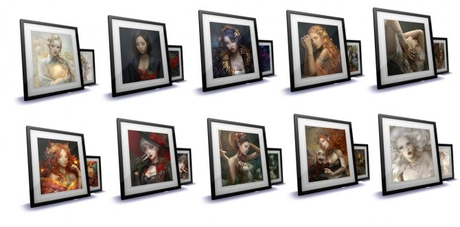 Fantasy Paintings frame at HoangLap's Sims image 962 670x330 Sims 4 Updates
