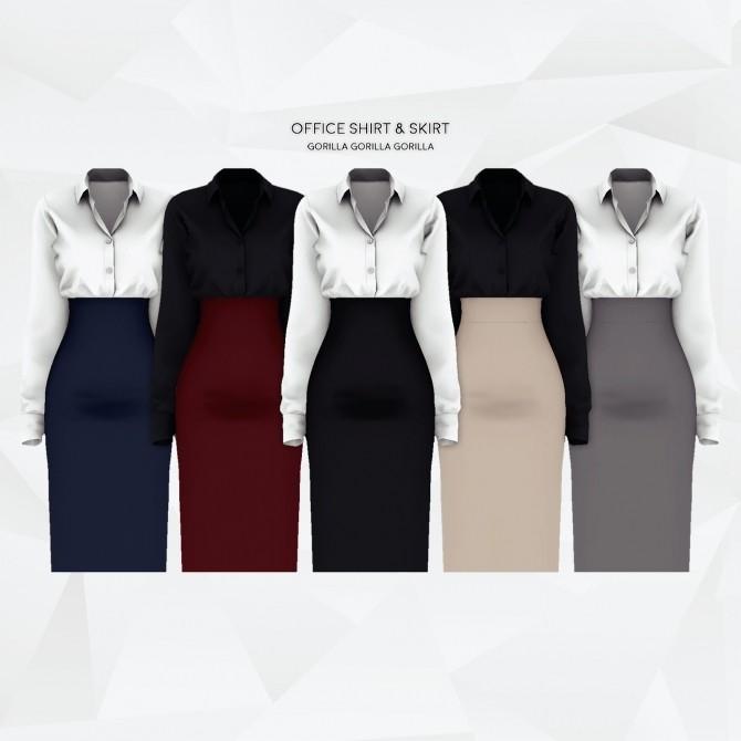 Office Shirt & Skirt at Gorilla image 964 670x670 Sims 4 Updates