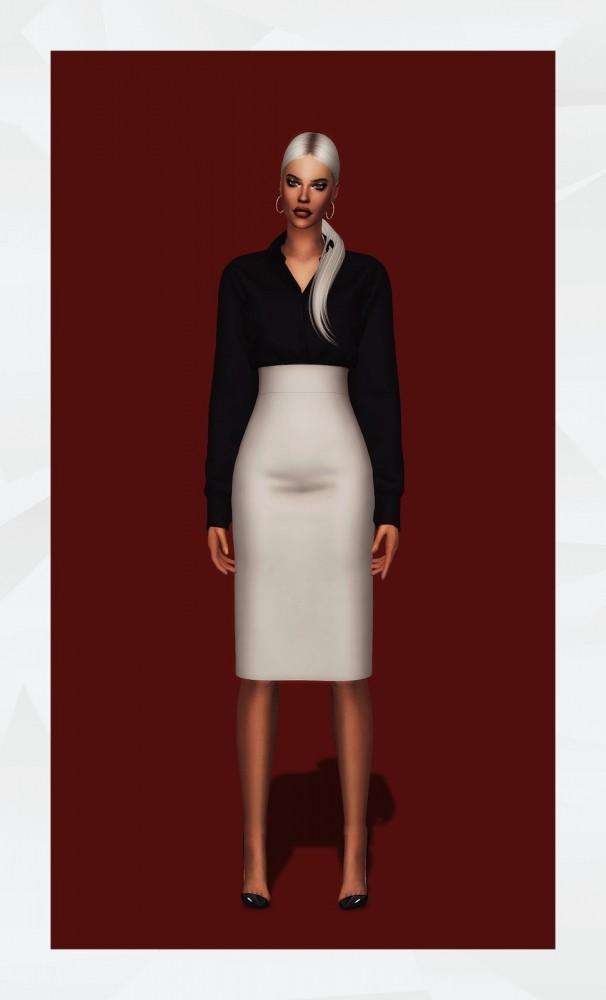 Office Shirt & Skirt at Gorilla image 974 606x1000 Sims 4 Updates