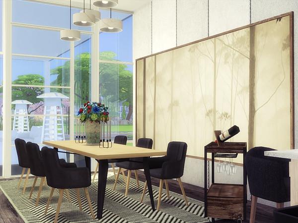 Sims 4 CEZA modern home by marychabb at TSR