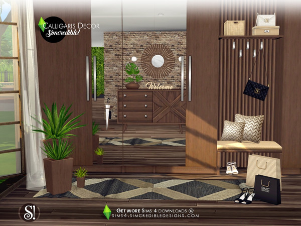 Calligaris hallway decor by SIMcredible at TSR image 1023 Sims 4 Updates